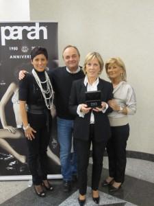Gregori Piazzalunga, Parah e Gigliola Visinoni vincitrice diamante Parah Anniversary
