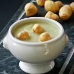 zuppa di cappesante e cavoletti