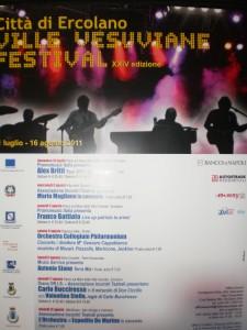 locandina festival delle ville vesuviane