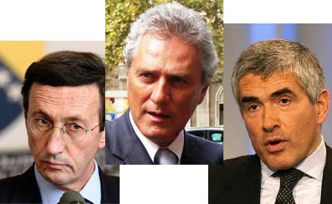 Fini, Rutelli, Casini