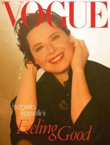 Isabella Rossellini, copertina di Vogue