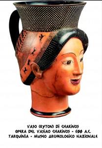 Tarquinia - Vaso Ryton di Charinos