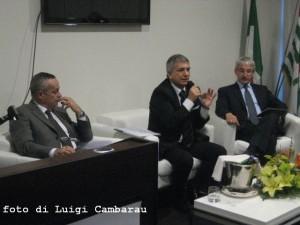 da sx: Giulio Colecchia, Nichi Vendola, Giovanni Faverin