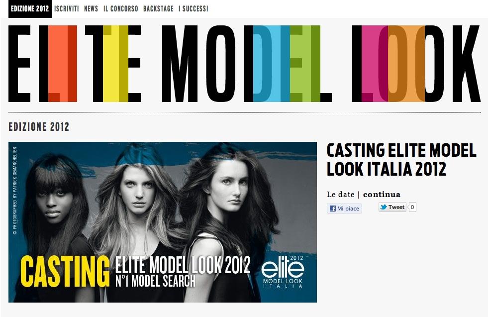 Elite Model Look Italia 2012
