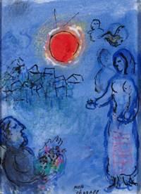 Chagall - L'offrende au soleil rouge, 1978