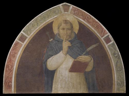 Foto 1 BASSA - Museo di San Marco, Chiostro di Sant'Antonino, lato ovest, Beato Angelico, lunetta con San Pietro Martire, dopo il restauro
