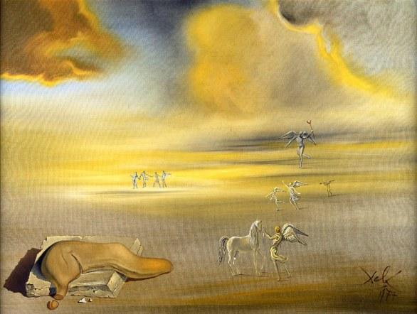 Salvador Dalì - Mostro molle in un paesaggio angelico