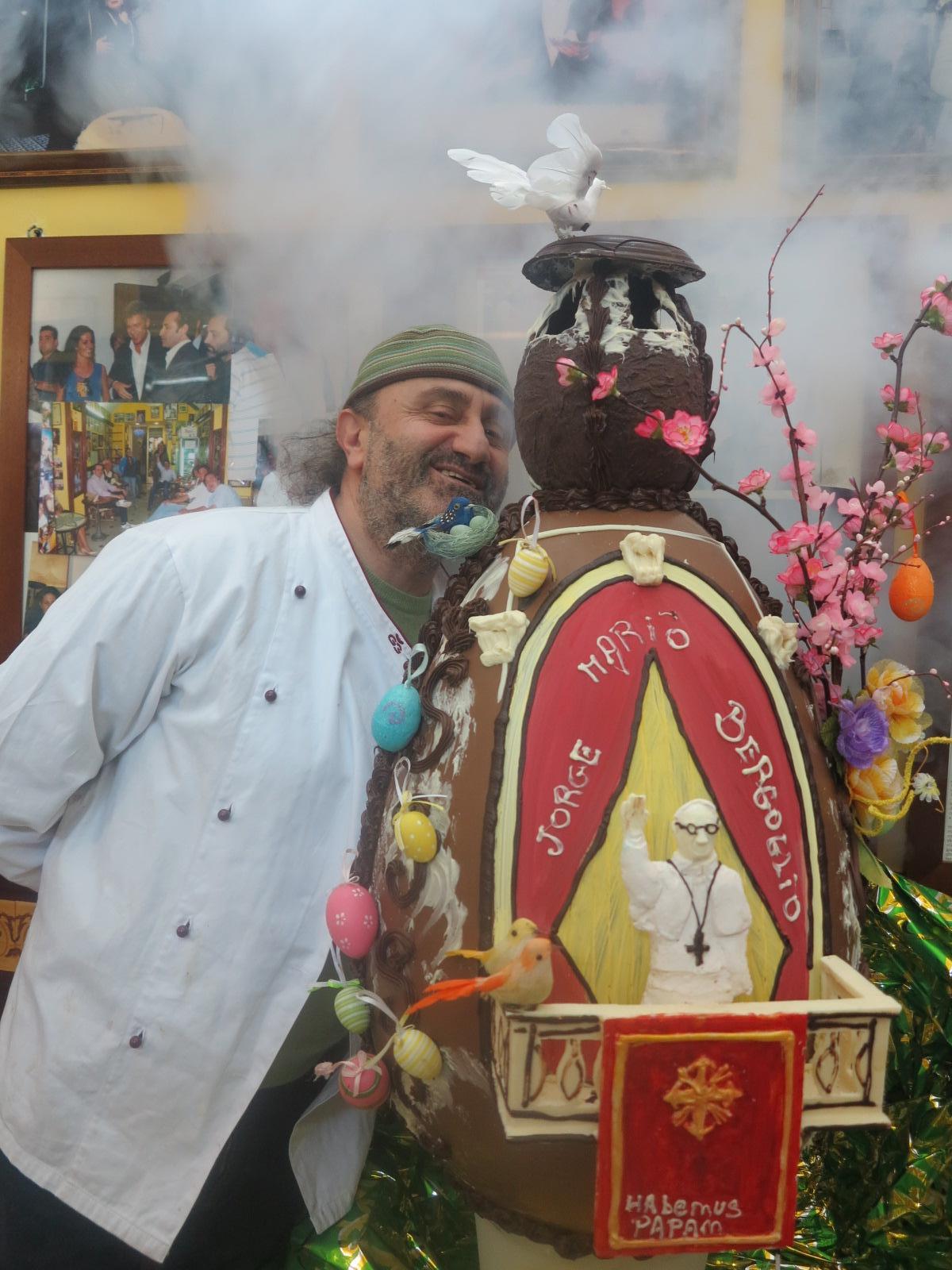 Uovo cioccolato Papa Francesco I
