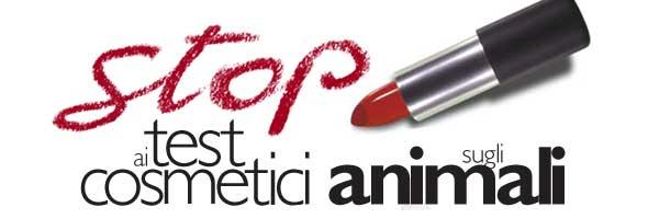 locandina divieto di test sugli animali