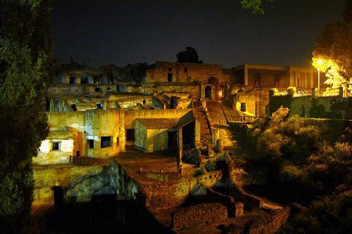 Scavi di Pompei - notte