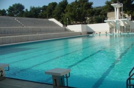 La piscina della Mostra d'Oltremare