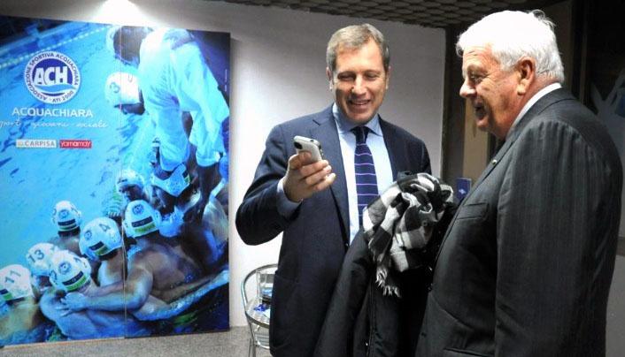 Luciano Cimmino con Pino Porzio (Foto Rosario Caramiello)