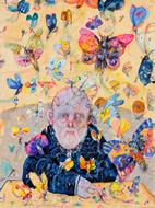 Autoritratto con farfalle - Antonio Possenti