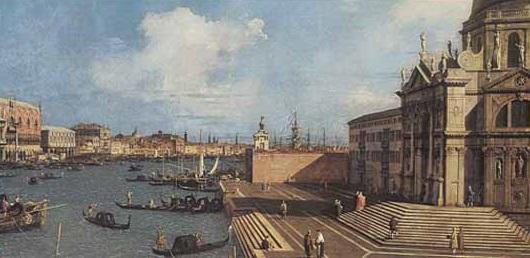 Canaletto - L'entrata nel Canal Grande dalla Basilica della Salute