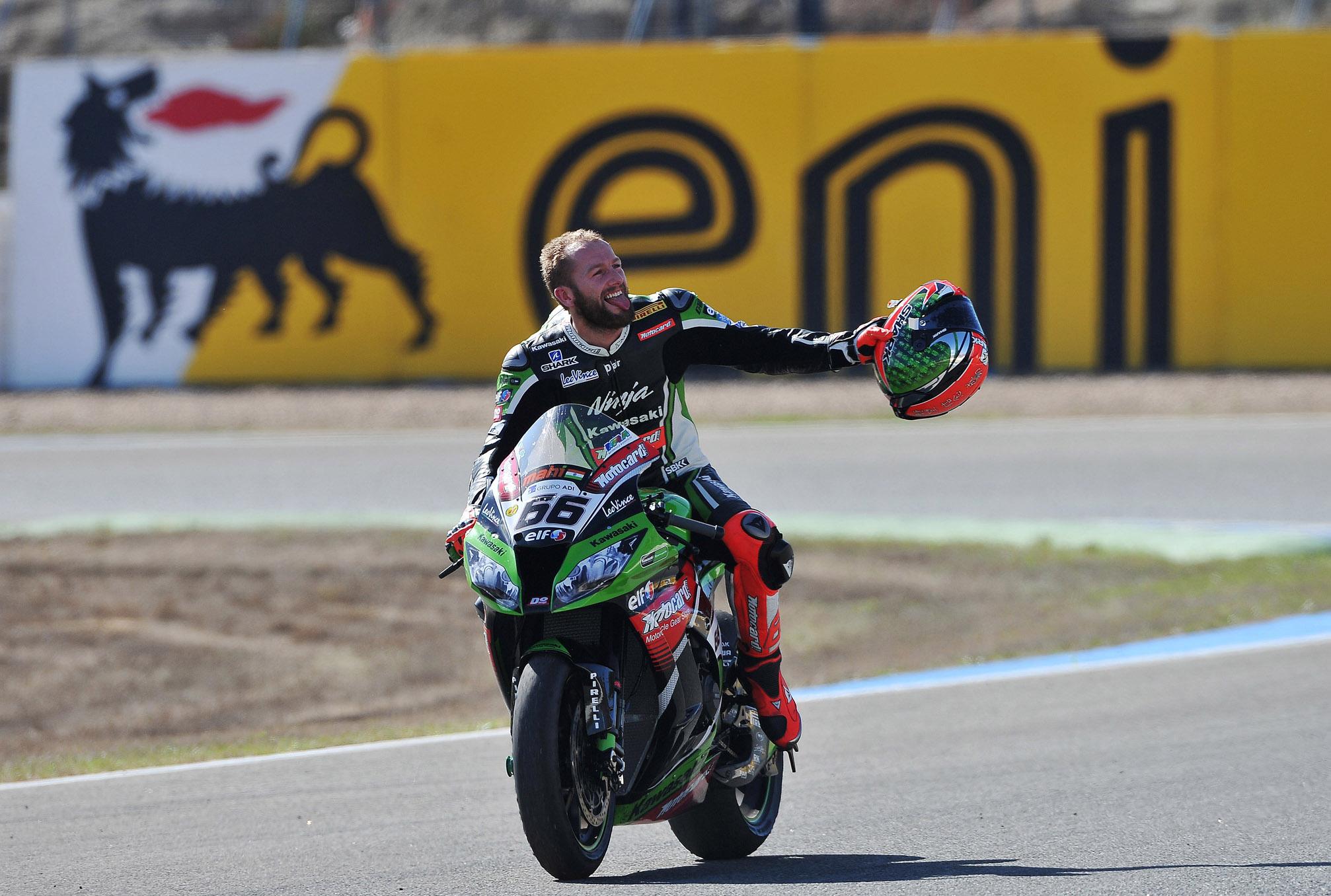 Sykes Campione Mondiale SBK 2013 finish a Jerez
