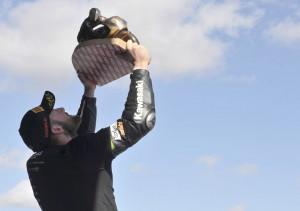 Tom Sykes sul podio a Jerez Campione Mondiale SBK 2013