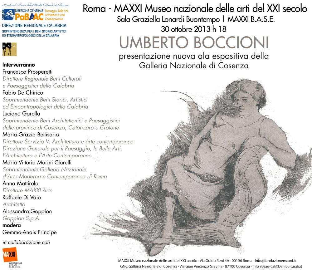 Umberto Boccioni disegni e incisioni al MAXXI di Roma