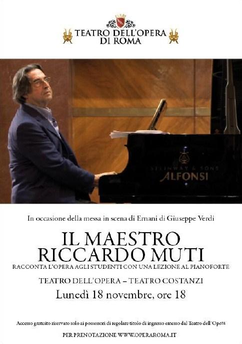 Riccardo Muti legge Ernani al pianoforte