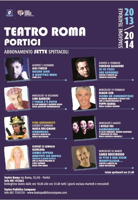 Locandina spettacoli teatrali Cinema Teatro Roma