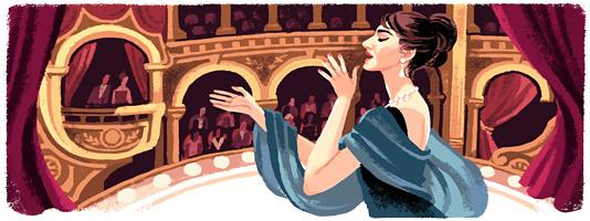 Maria Callas doodle Google