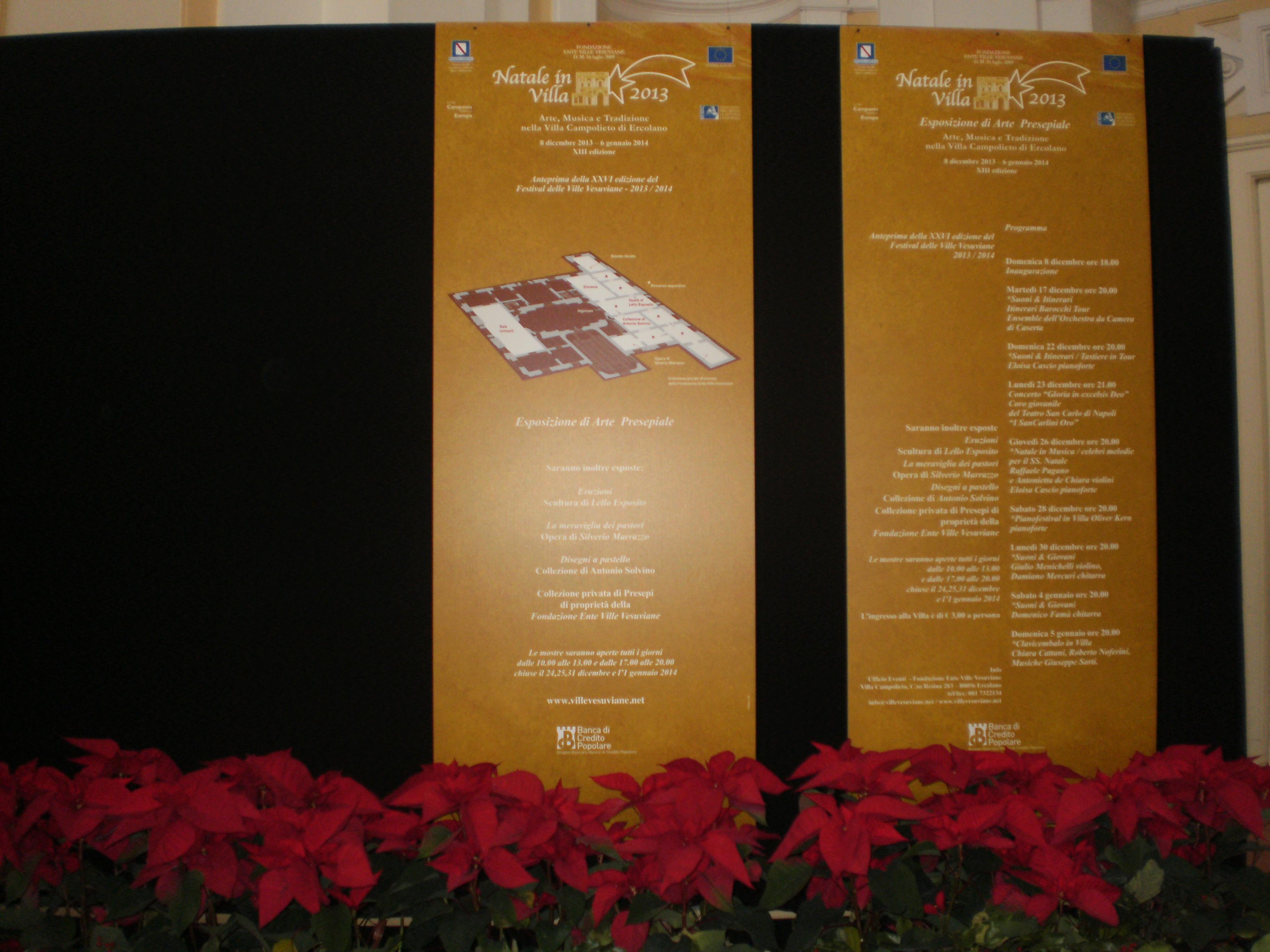 Natale in villa Campolieto