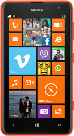 Dimensioni Nokia Lumia 625