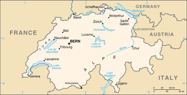 Svizzera-Mappa