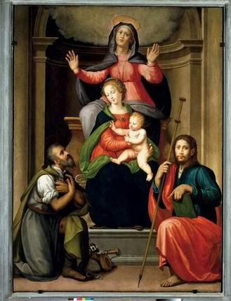 Sant'Anna con Madonna , bambino e santi