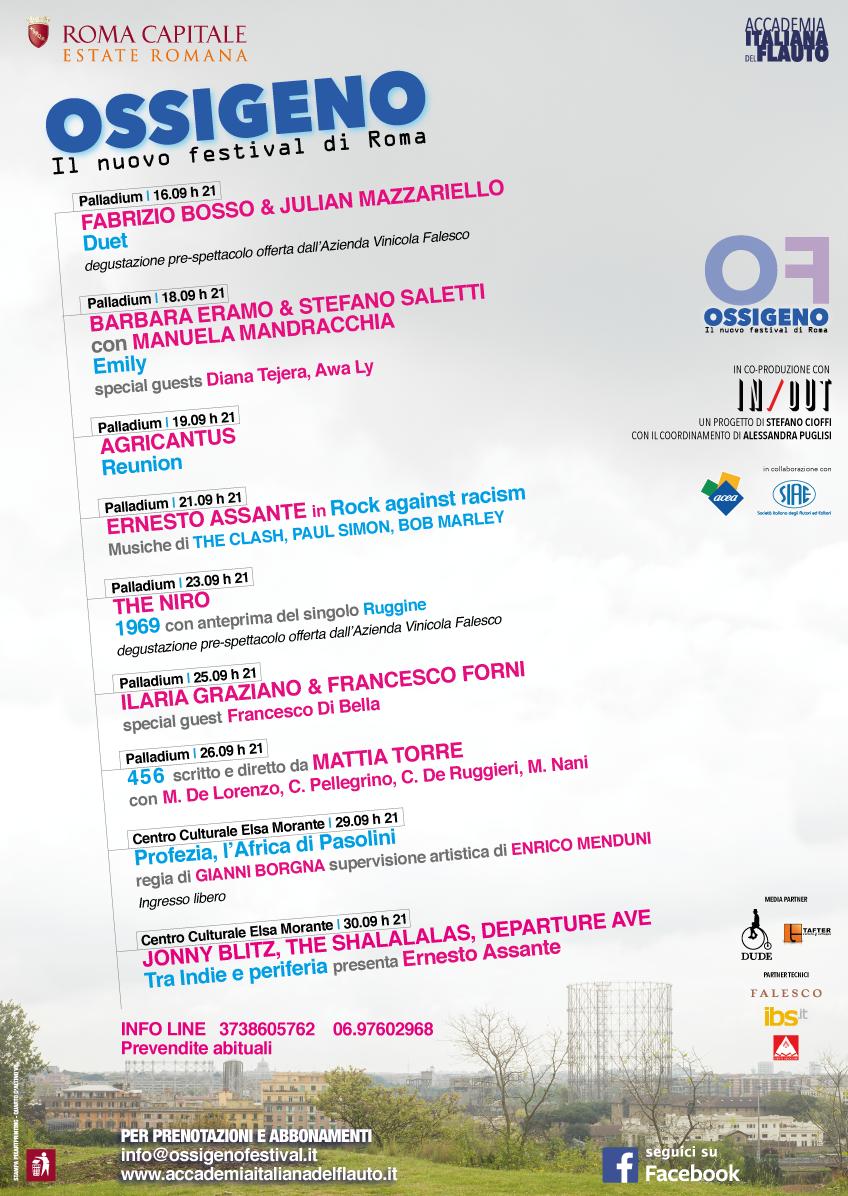 Locandina Festival Ossigeno