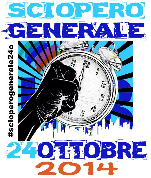 locandina Sciopero Generale 24 ottobre 2014