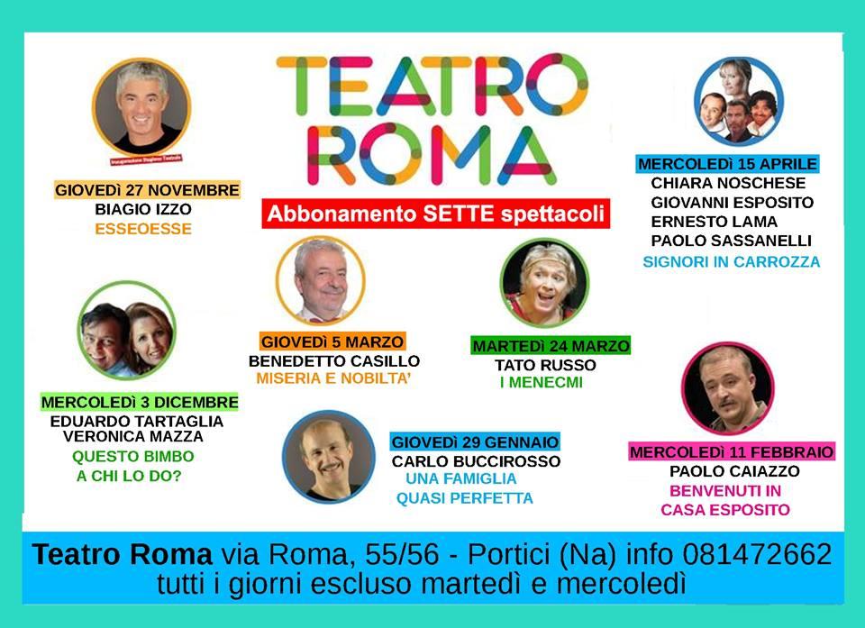 LOCANDINA STAGIONE TEATRALE 2014-2015 AL CINEMA TEATRO ROMA