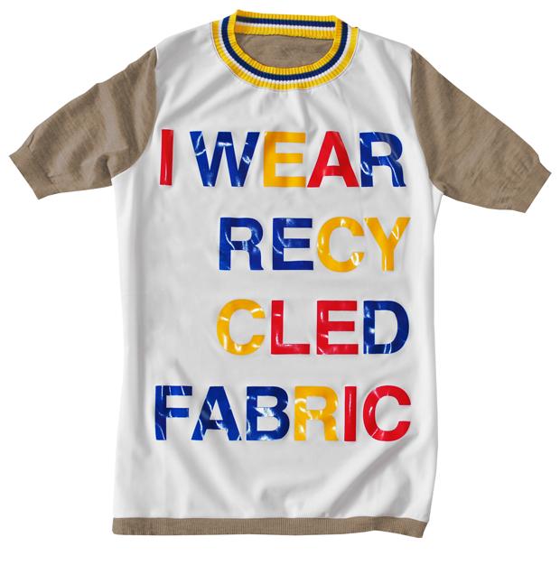 T-shirt in lana merinos e recycled nylon fiber (ECONYL®) della collezione Wave-O di Ondine de la Feld