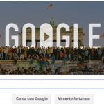 doodle Google caduta del muro di Berlino
