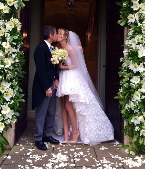Alessia Marcuzzi e Paolo Calabresi Marconi oggi sposi