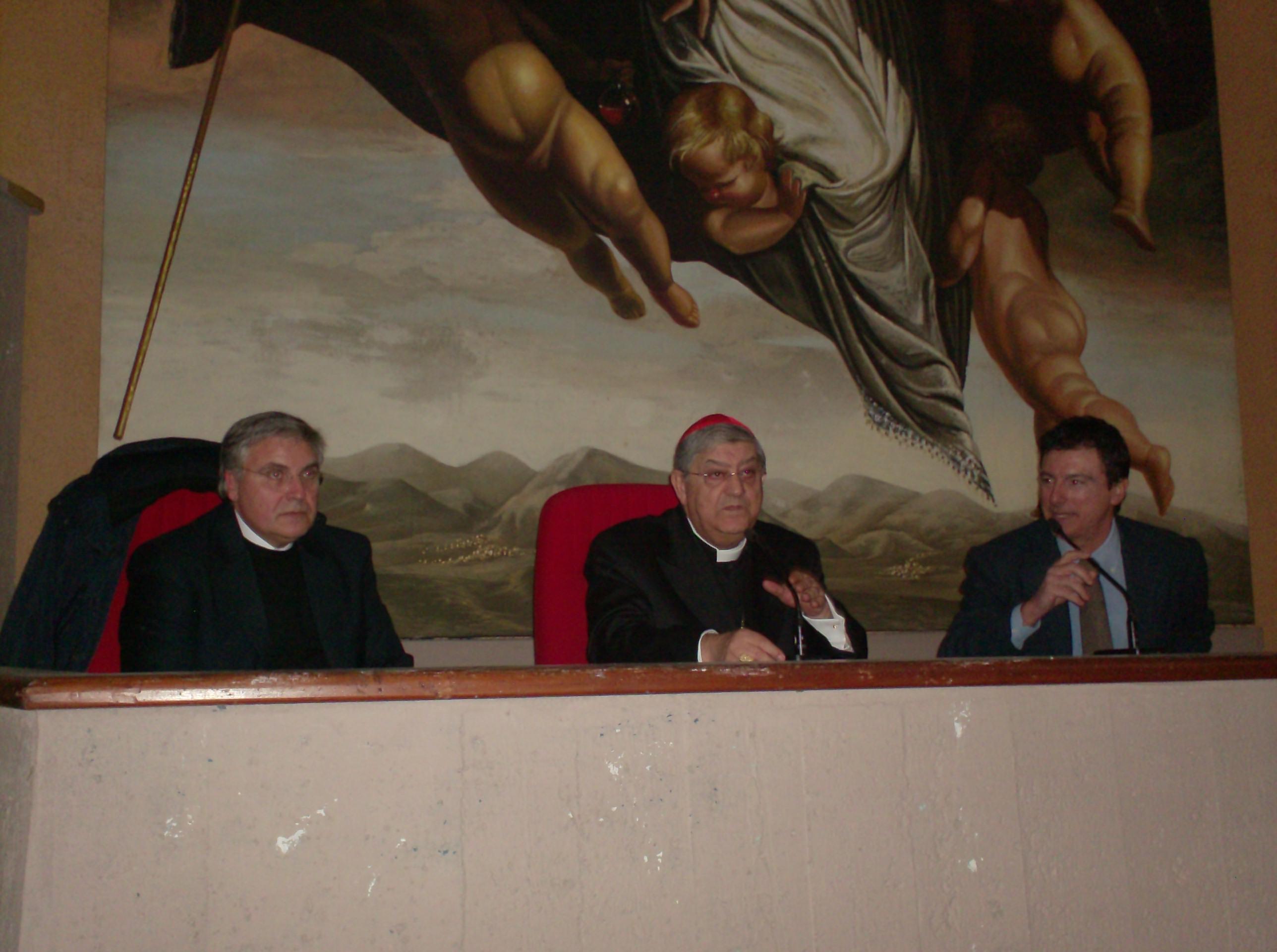 Don Tonino Palmese S.E. Card. Crescenzio Sepe Pres.te OdG Ottavio Lucarelli Napoli