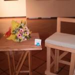 Tavolo e sedia del set di Dario Fo