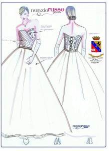 Bozza abito debuttanti 225° Corso Scuola Militare Nunziatella, Nunzio Russo stilista