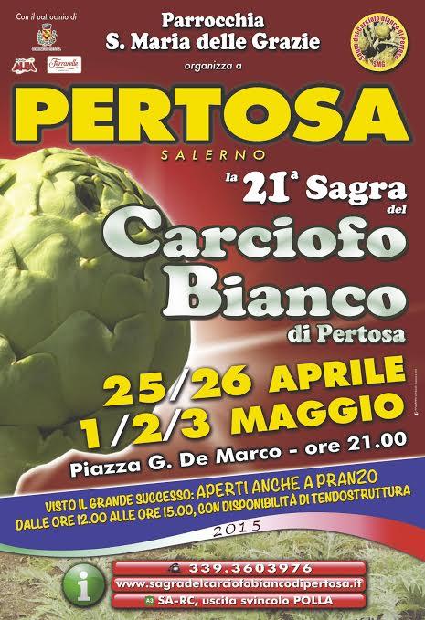 Locandina XXI edizione della Sagra del Carciofo Bianco di Pertosa