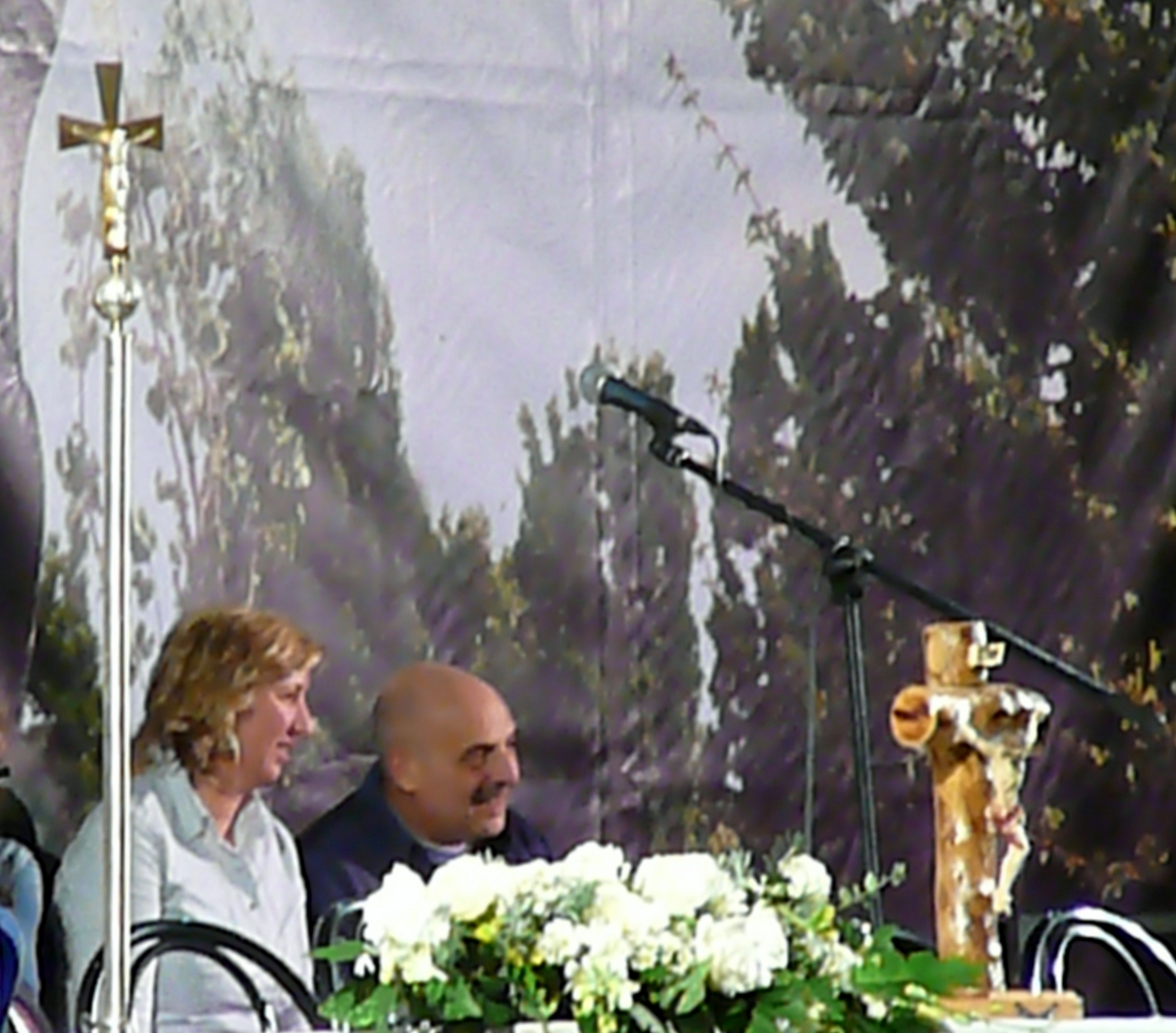 Paolo Brosio a Medjugorje assieme alla veggente Marija Pavlović