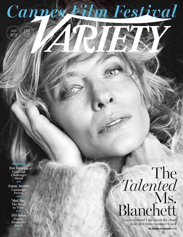 L'affascinante attrice Cate Blanchett sulla copertina di Variety