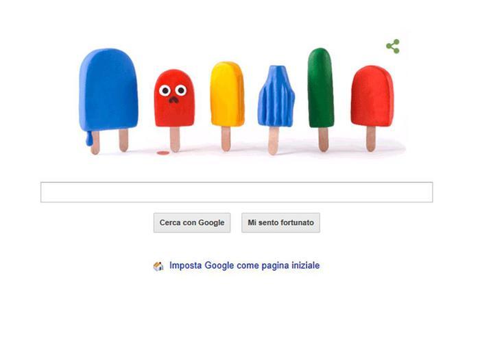 doodle Google ghiaccioli