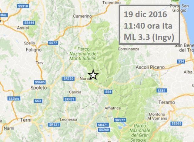 Terremoto oggi 19 dicembre 2016