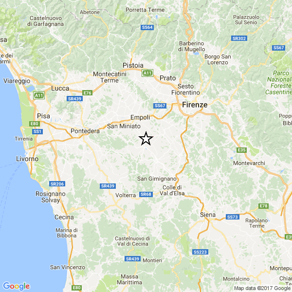 Firenze, terremoto oggi 13 gennaio 2017