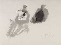 Julius Bissier, 17.Febr.61.6, 1961 - china su carta - Museo Morandi di Bologna