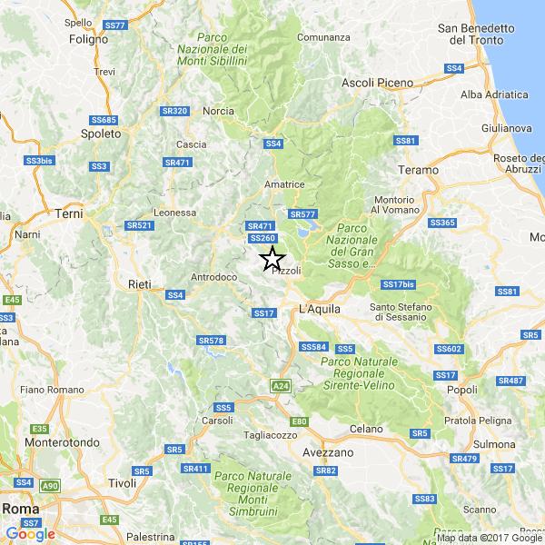 L'Aquila, terremoto oggi 17 gennaio 2017