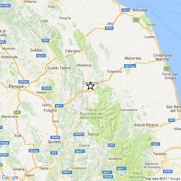 Macerata, terremoto oggi 12 gennaio 2017