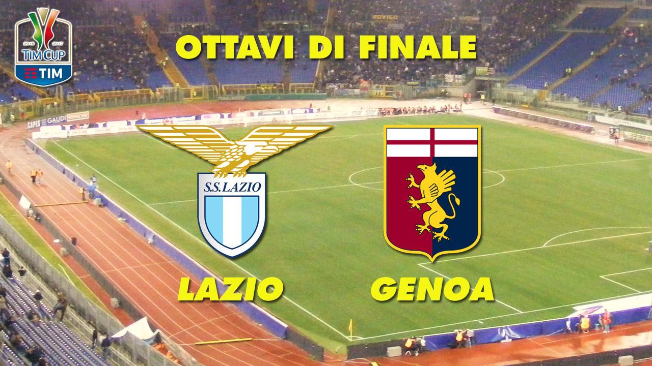 Stasera in tv su Rai2 Lazio – Genoa, quarti di finale di Coppa Italia