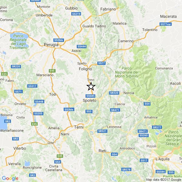 Terremoto oggi 2 gennaio 2017