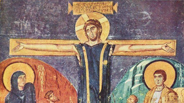 Affresco bizantino nella chiesa di Santa Maria Antiqua