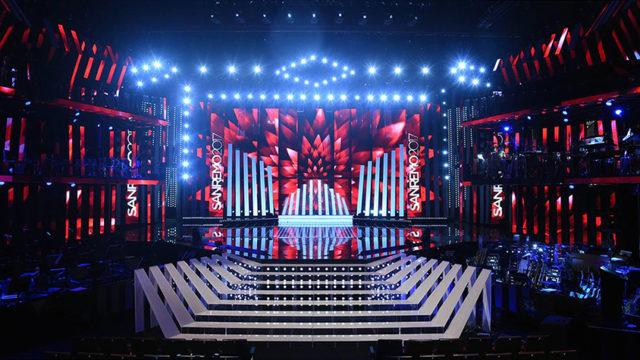 Sanremo 2017 scenografia